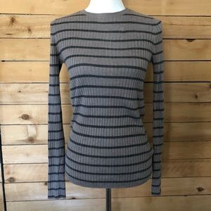 Vince Striped Crewneck Sweater - sz S